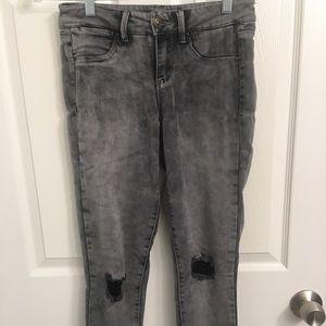 Suede leggings look like pants